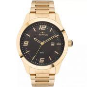 Relógio Masculino Technos 2115MNZ/4P Aço Dourado