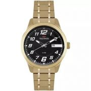 Relógio Masculino Technos 2115MOX/4P 47mm Aço Dourado