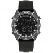 Relógio Masculino Technos BJ3589AC/2P 38mm Silicone Preto
