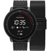 Relógio Technos Connect ID Smartwatch L5AA/1P 48mm Aço Preto