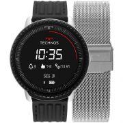 Relógio Technos Connect ID Smartwatch L5AB/4P 48mm Aço Prata