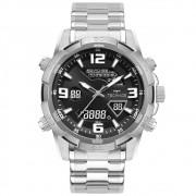Relógio Masculino Technos Digiana W23305AA/1P 49mm Aço Prata
