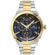 Relógio Masculino Technos Grandtech 6P57AE/1A 48mm Aço Bicolor Prata/Dourado