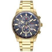 Relógio Masculino Technos GrandTech JS15FQ/4C 47mm Aço Dourado