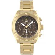 Relógio Masculino Technos OS20HMF/4M 45mm Aço Dourado