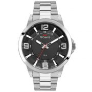 Relógio Masculino Technos Racer 2036MLG/1P 46mm Aço Prata