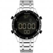Relógio Masculino Technos Racer BJK006AE/1P 46mm Aço Prata