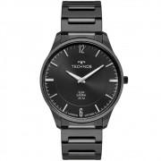 Relógio Masculino Technos Slim 9T22AS/4P 40mm Aço Preto
