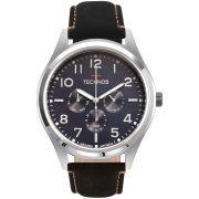Relógio Masculino Technos Steel 6P29AKK/0A 46mm Couro Preto