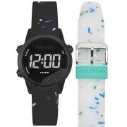 Relógio Unissex Mormaii Digital Mude MO4100AE/T8W 40mm Silicone Preto