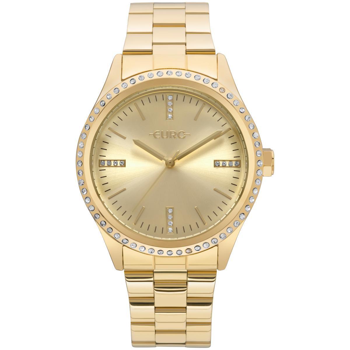 Relógio Euro Feminino EU2035YNT/4D 43mm Aço Dourado