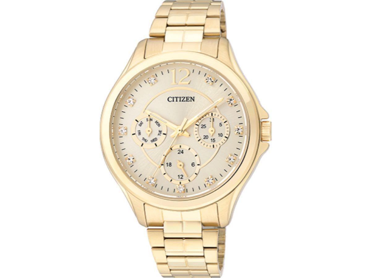 Relógio Feminino Citizen TZ28360G 36mm Aço Dourado