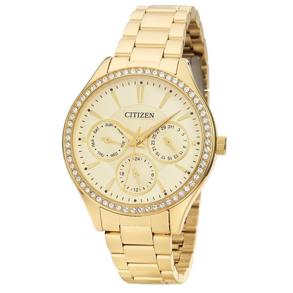 Relógio Feminino Citizen TZ28404G 36mm Aço Dourado