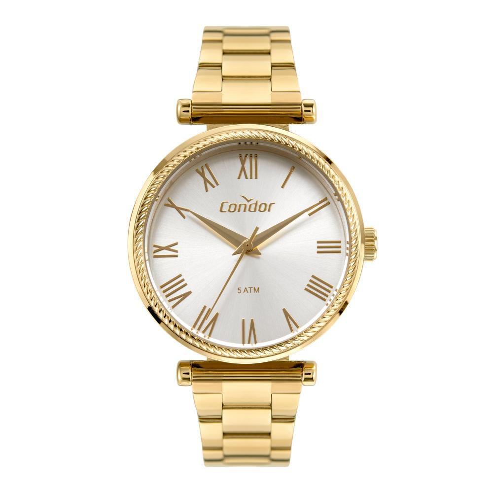Relógio Feminino Condor CO2035MUG/K4K 34mm Aço Dourado