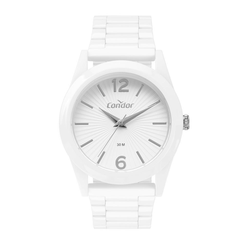 Relógio Feminino Condor CO2035MVC/7B 36mm Aço Branco