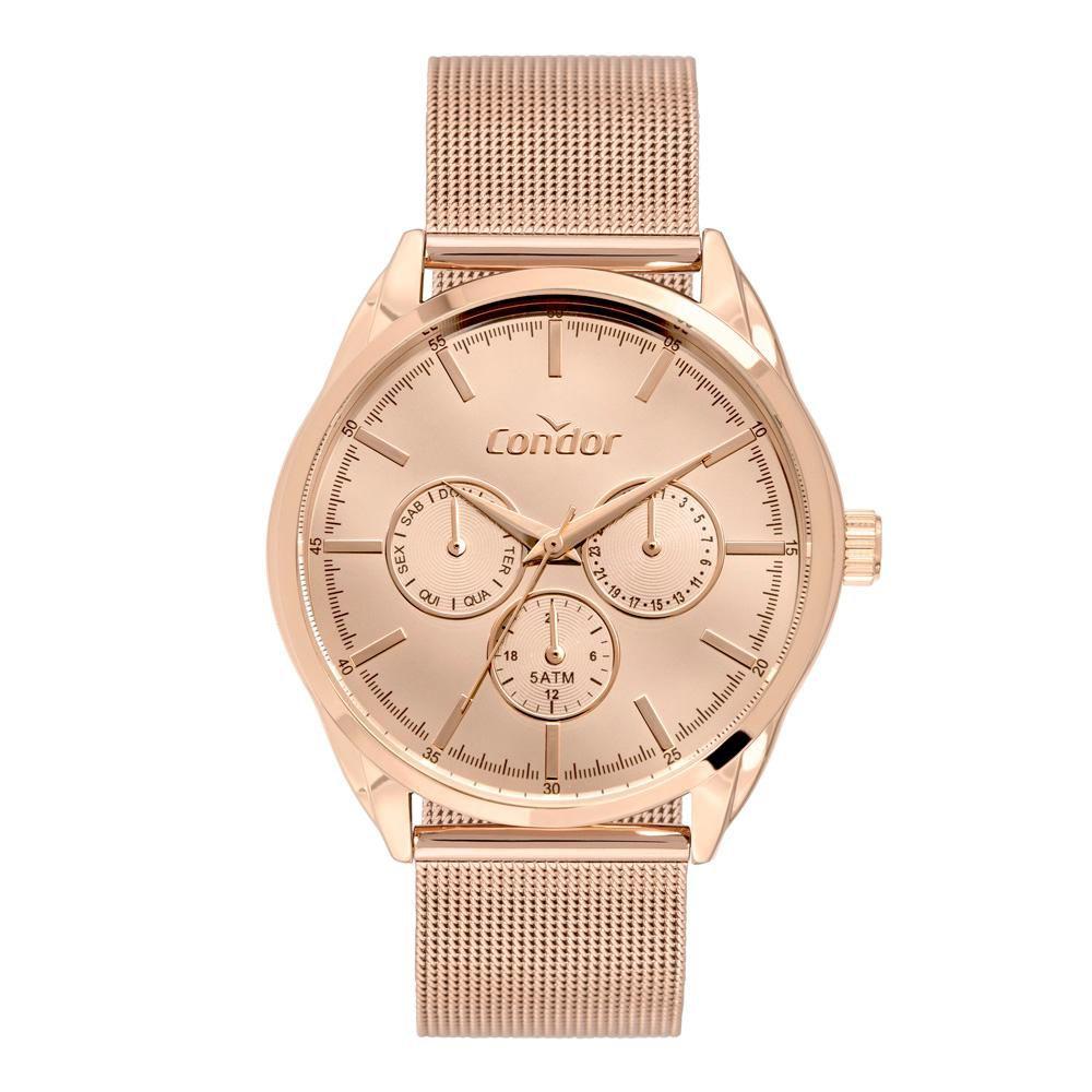 Relógio Feminino Condor Top Fashion CO6P29JM/4J 42mm Aço Rosé