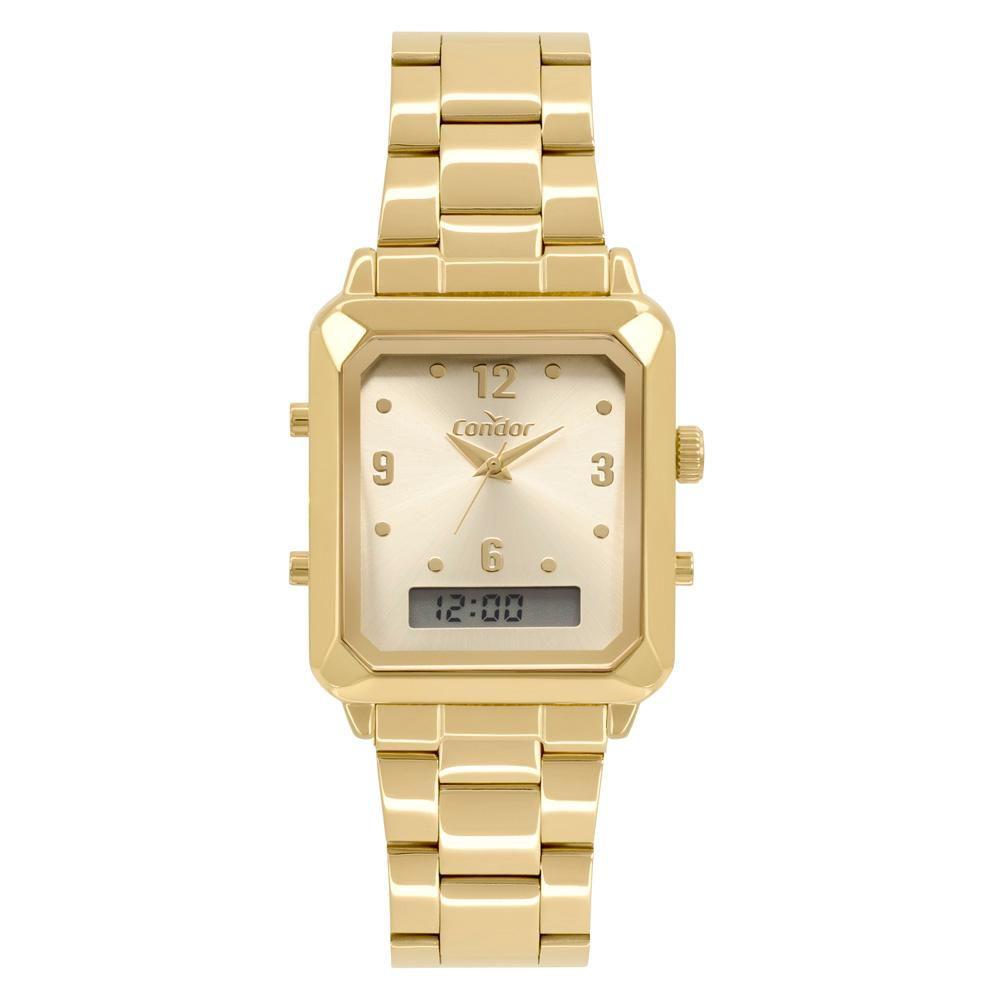 Relógio Feminino Condor Top Fashion COBJ3718AB/4X 32mm Aço Dourado