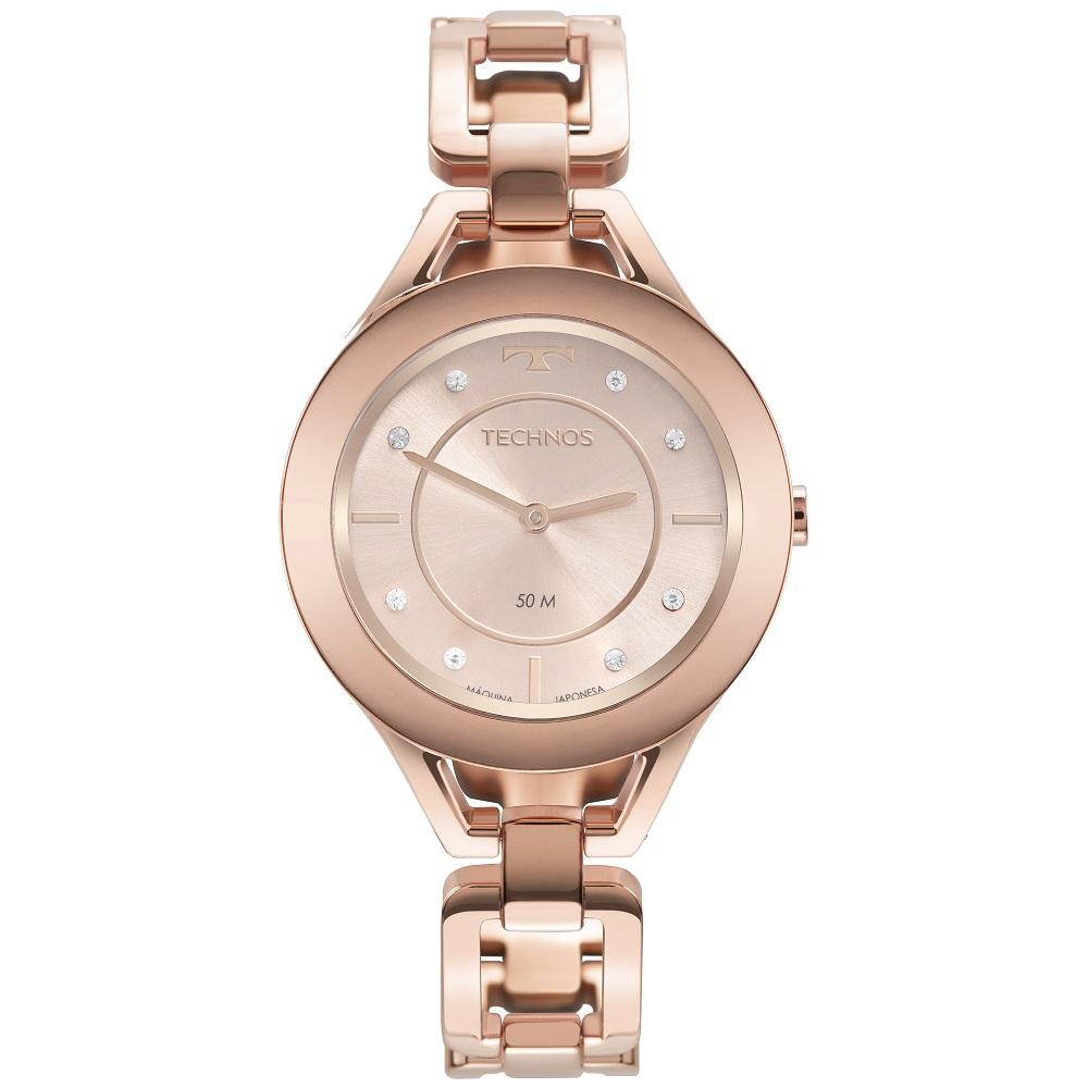 Relógio Feminino Elegance Elos Technos GL20HN/1T 37mm Aço Rosé