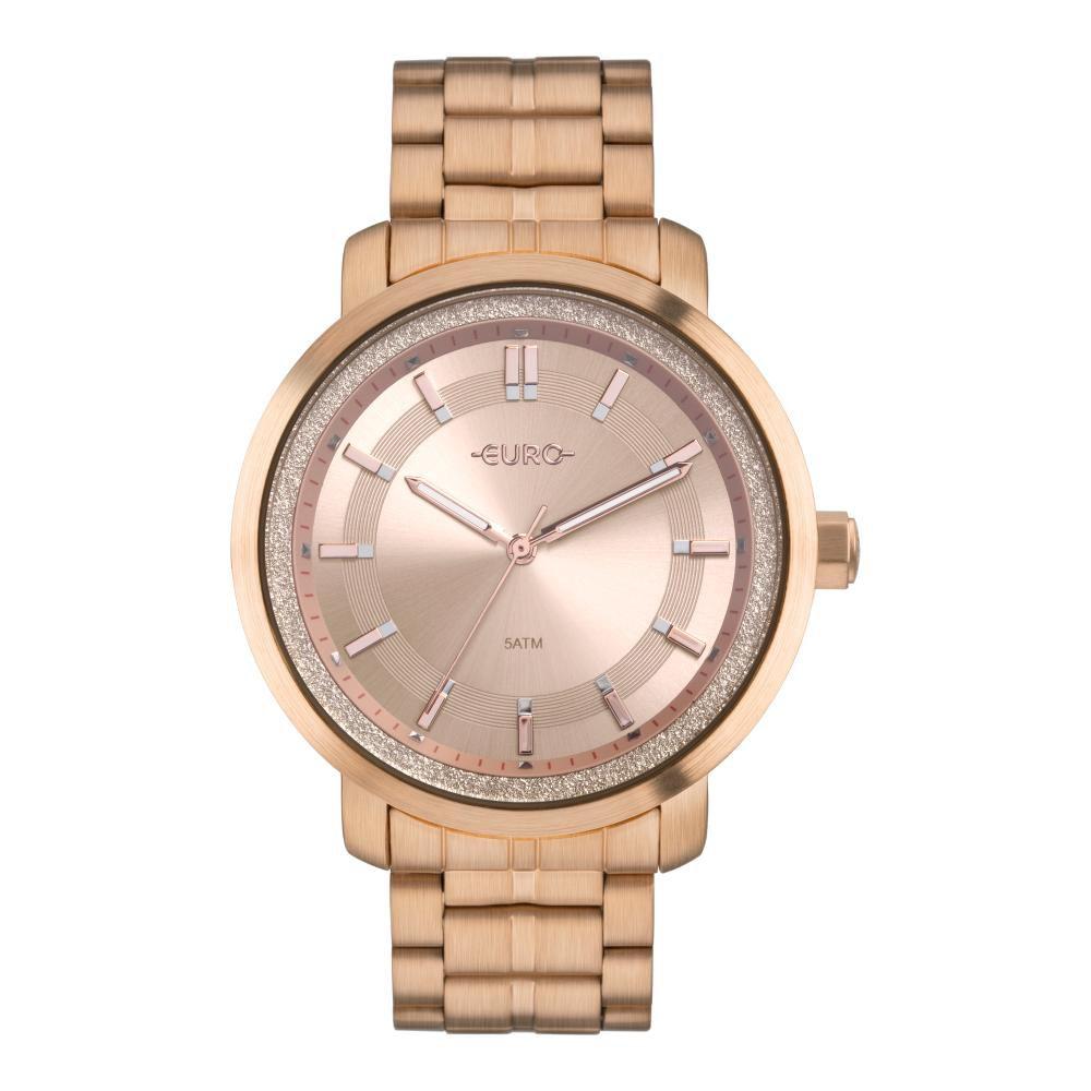 Relógio Feminino Euro Casual Shine EU2036YPA/4J 43mm Aço Rose