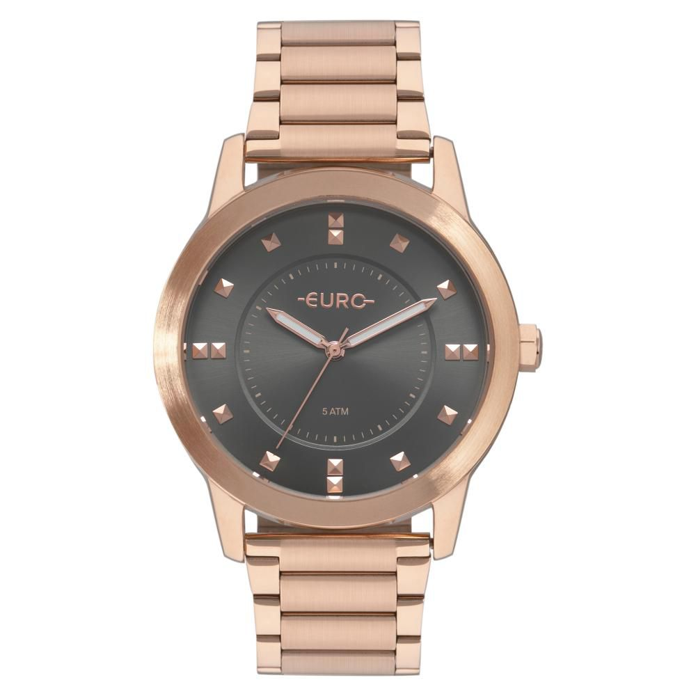 Relógio Feminino Euro Casual Style EU2039JR/4C 43mm Aço Rose