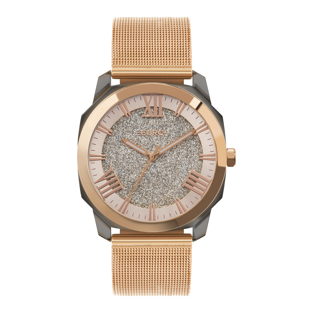 Relógio Feminino Euro Collection EU2035YSR/7J 40mm Aço Rosé
