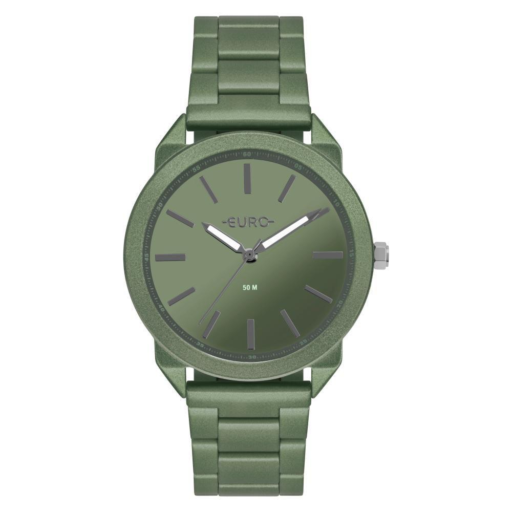 Relógio Feminino Euro Color Spray EU2035YSP/4V 40mm Aço Verde