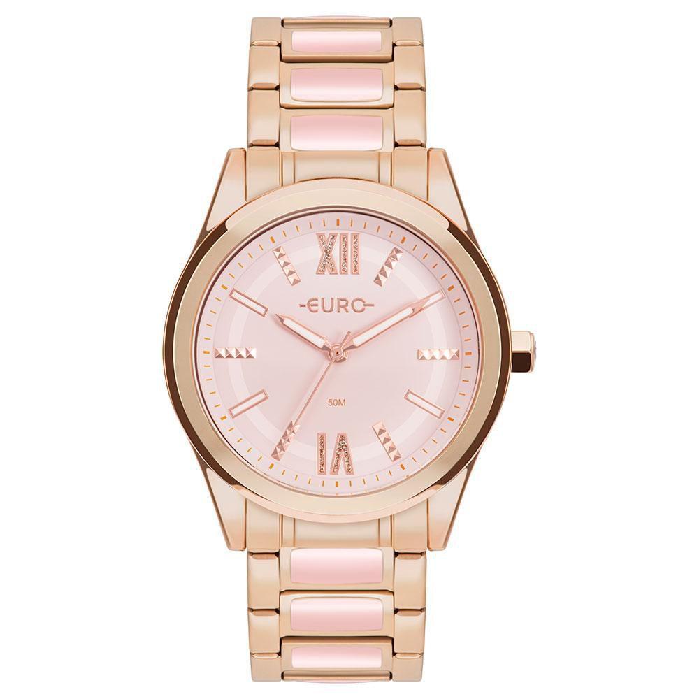 Relógio Feminino Euro Colors EU2036YQM/4T 43mm Aço Rosé