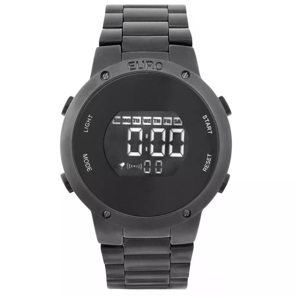 Relógio Feminino Euro Digital EUBJ3279AB/4P Aço Preto