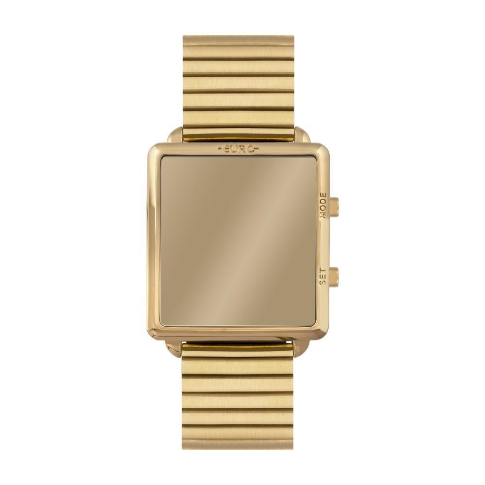 Relógio Feminino Euro Digital Fashion Fit Reflexos EUJHS31BAG/4D 36mm Aço Dourado