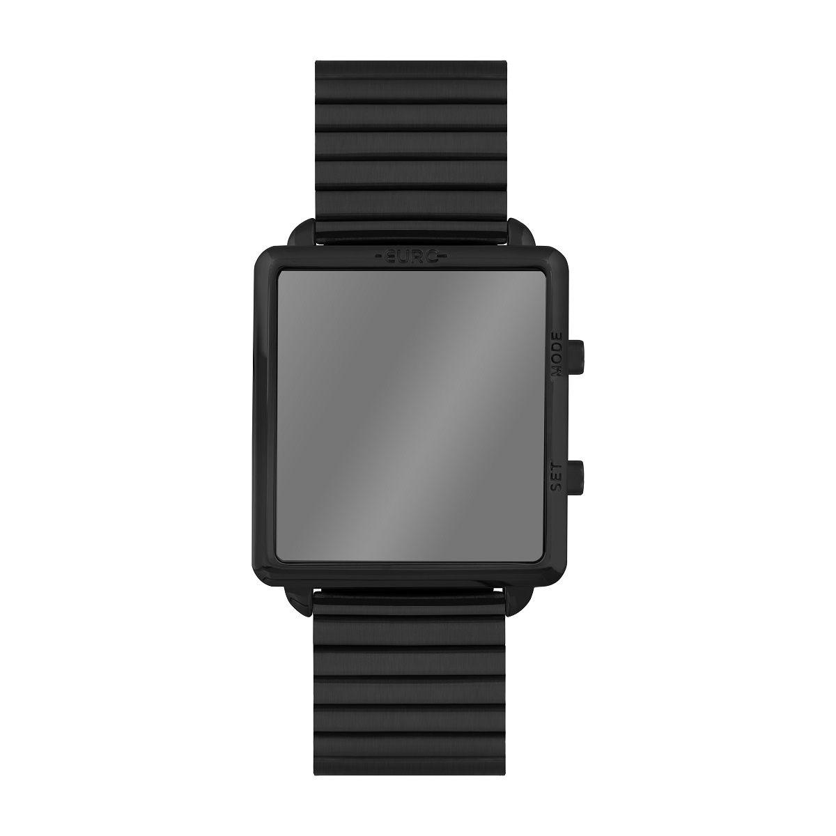Relógio Feminino Euro Digital Fashion Fit Reflexos EUJHS31BAI/4P 36mm Aço Preto