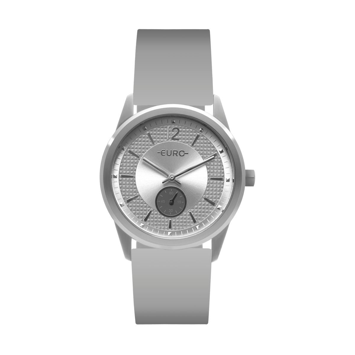 effc4d34307 Relógio Feminino Euro EU1L45AA 8K 40mm Silicone Cinza