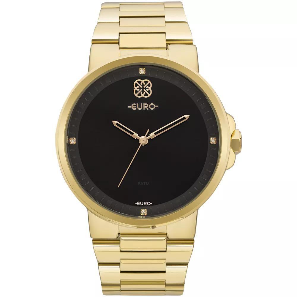 97187dee57c Relógio Feminino Euro EU2035YLD 4P Aço Dourado