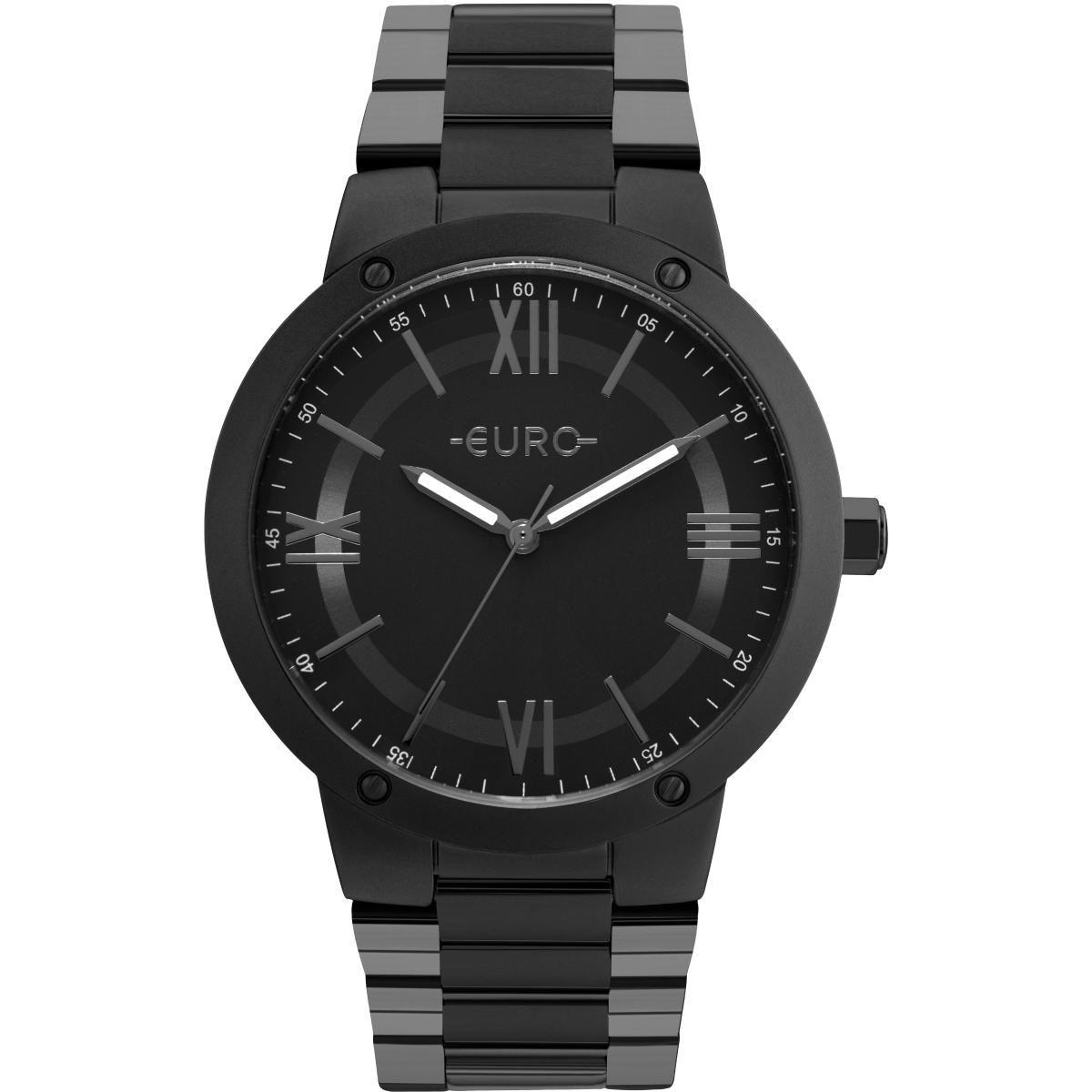 69061c43539e2 Relógio Feminino Euro EU2035YMV 4P Pulseira Aço Preta - Vitrino Relógios