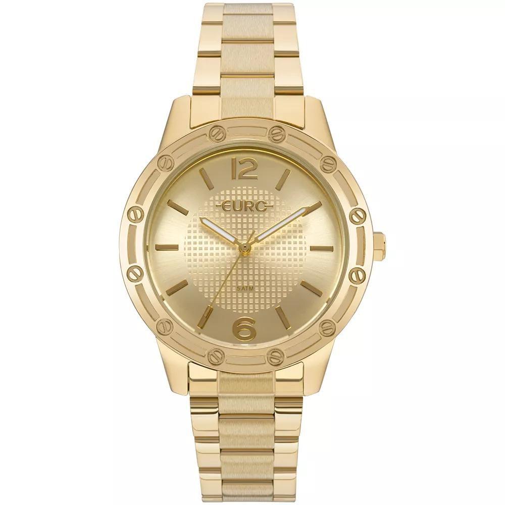 451459c1641 Relógio Feminino Euro EU2035YND 4D 40mm Aço Dourado