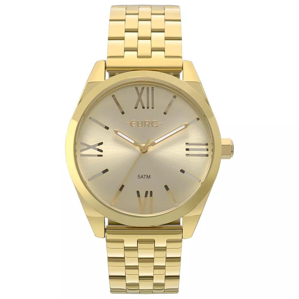 Relógio Feminino Euro EU2035YNG/4P 40mm Aço Dourado