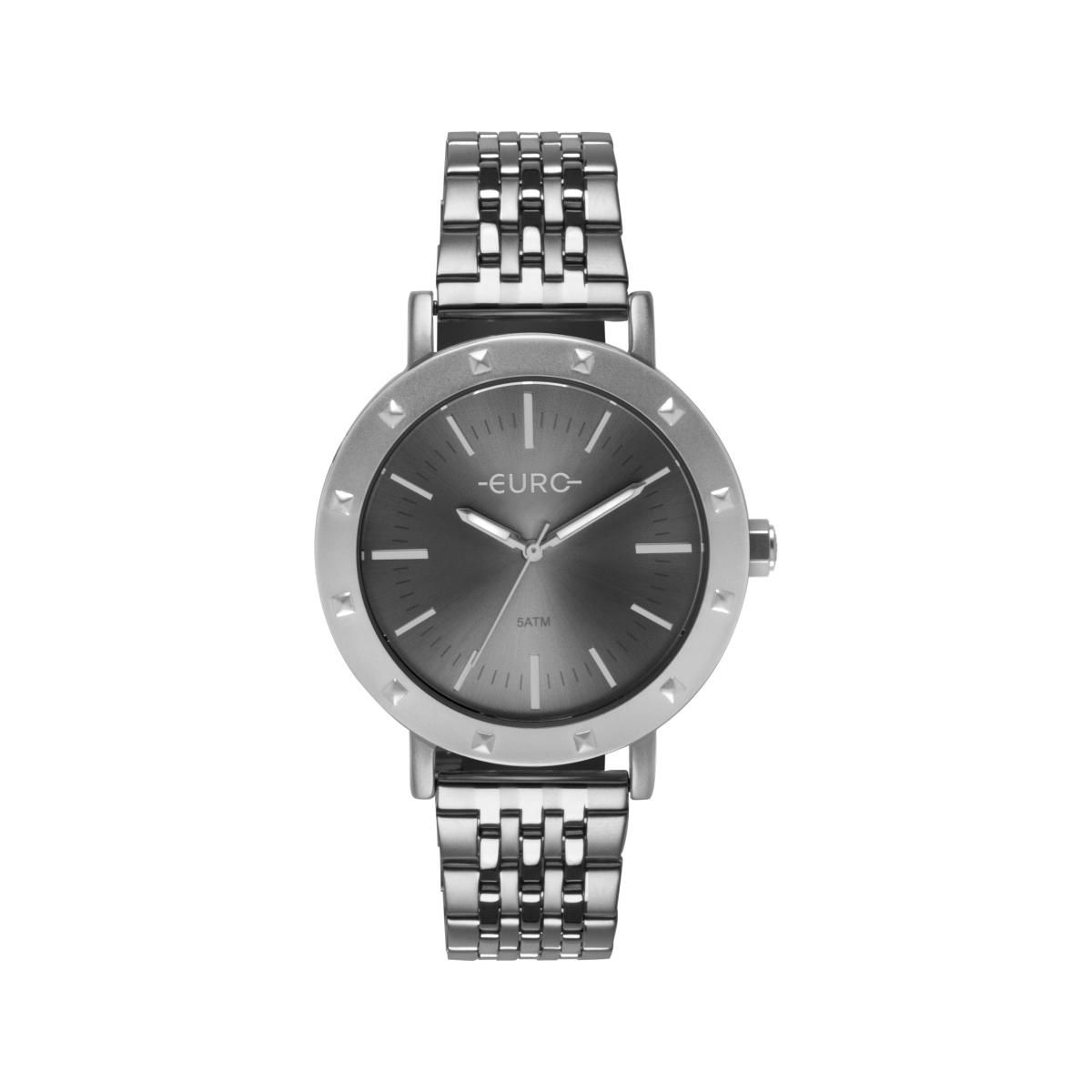 Relógio Feminino Euro EU2035YPG/3K 40mm Aço Prata