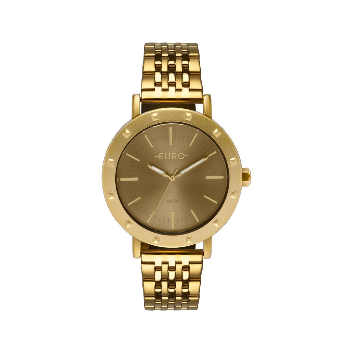 Relógio Feminino Euro EU2035YPH/4D 40mm Aço Dourado