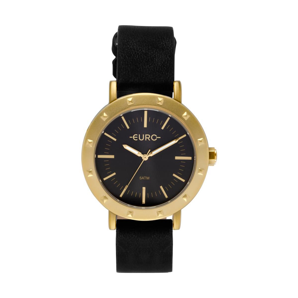 Relógio Feminino Euro EU2035YPI/2P 40mm Couro Sintetico Preto
