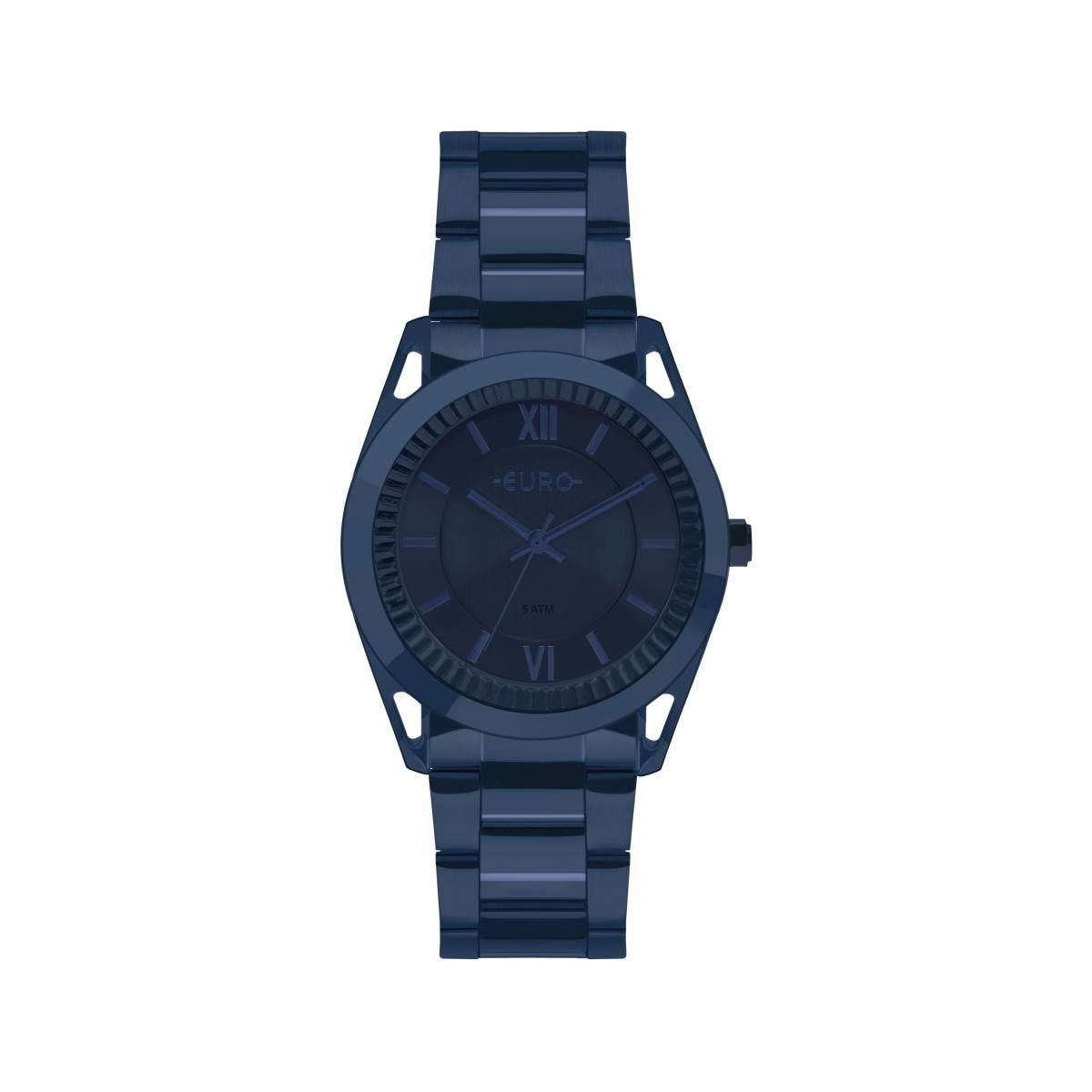 Relógio Feminino Euro EU2035YPQ/4A 38mm Aço Azul