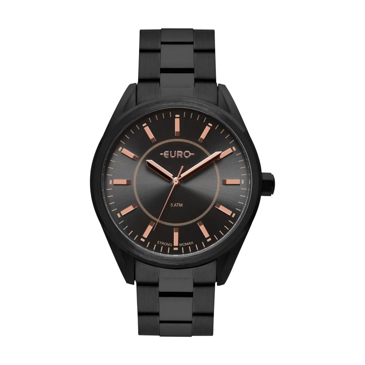 Relógio Feminino Euro EU2035YPY/4P 42mm Aço Preto