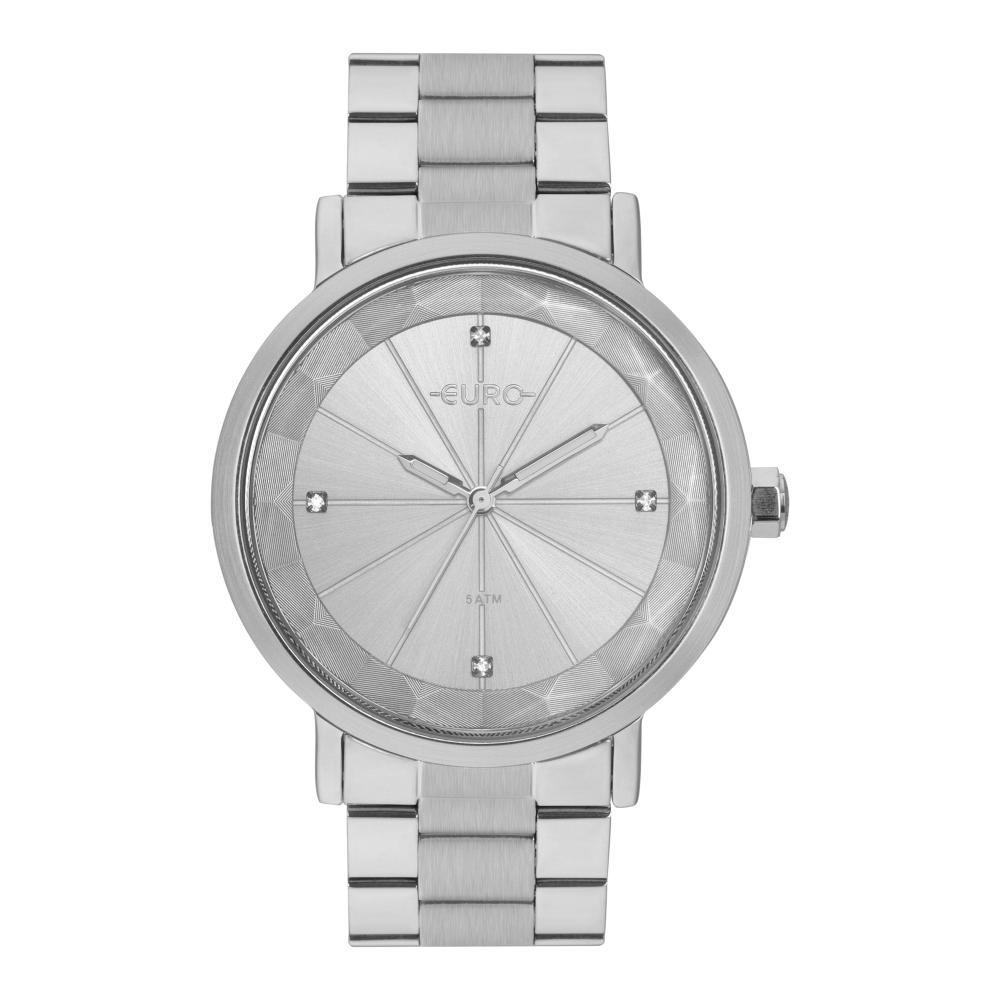 Relógio Feminino Euro EU2035YRX/3K 40mm Aço Prata