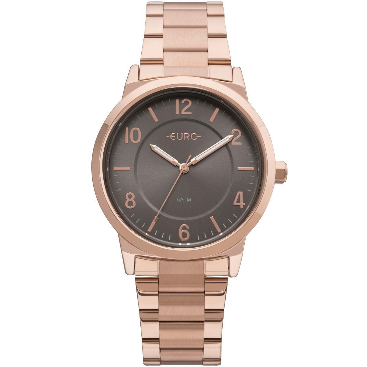 Relógio Feminino Euro EU2036YLY/4J Pulseira Aço Rose