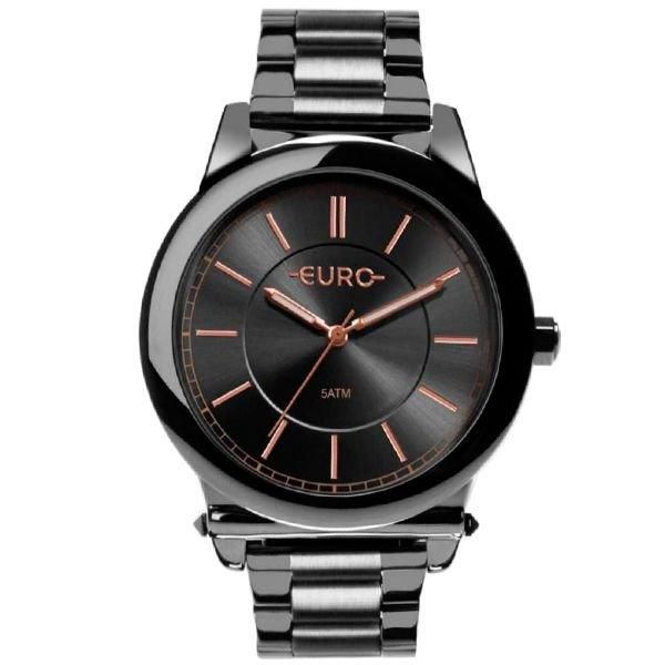 Relógio Feminino Euro  EU2036YMS/4C 43mm Aço Grafite