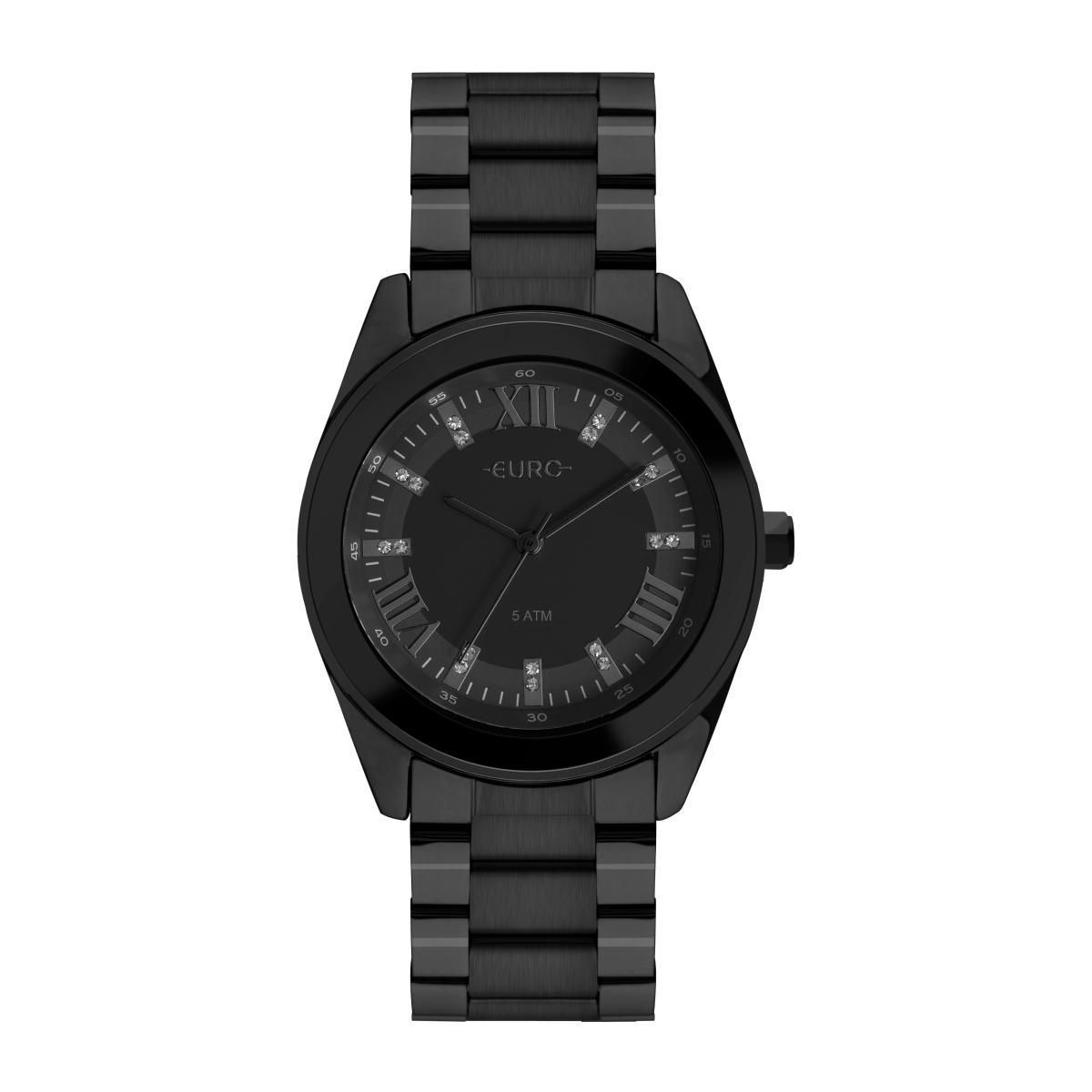 Relógio Feminino Euro EU2036YNE/4P 38mm Aço Preto