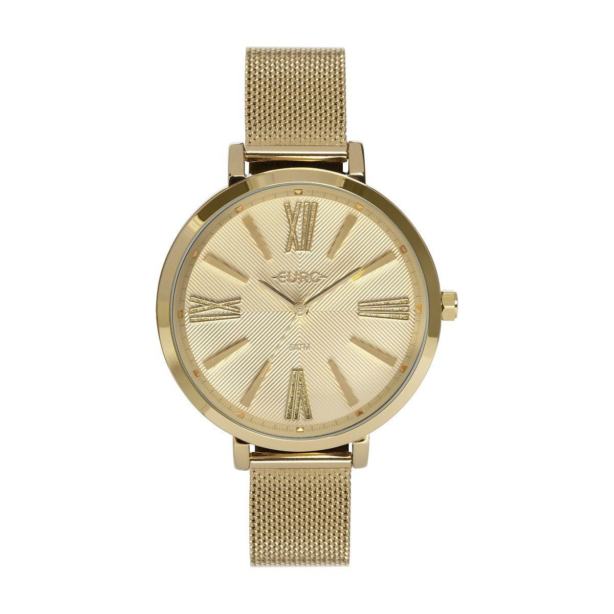 Relógio Feminino Euro EU2036YPR/4D 39mm Aço Dourado