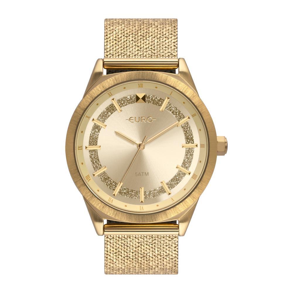 Relógio Feminino Euro EU2036YPV/4D 40mm Aço Dourado