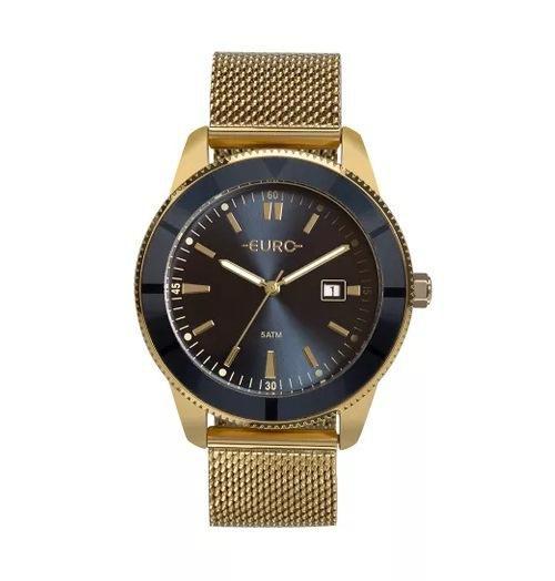 9013a7e7646 Relógio Feminino Euro EU2115AL 4A 42mm Aço Dourado