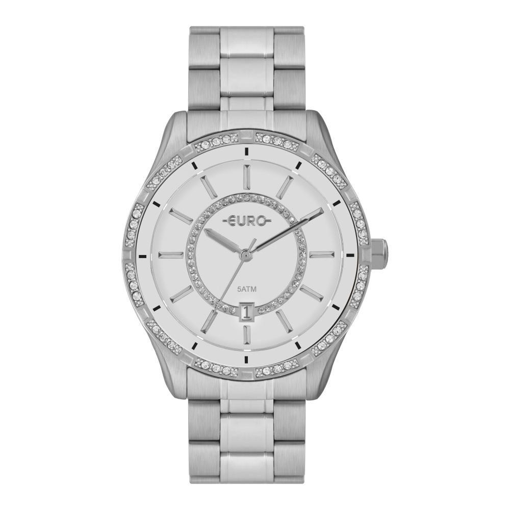 Relógio Feminino Euro EU21176HAB/3B 42mm Aço Prata