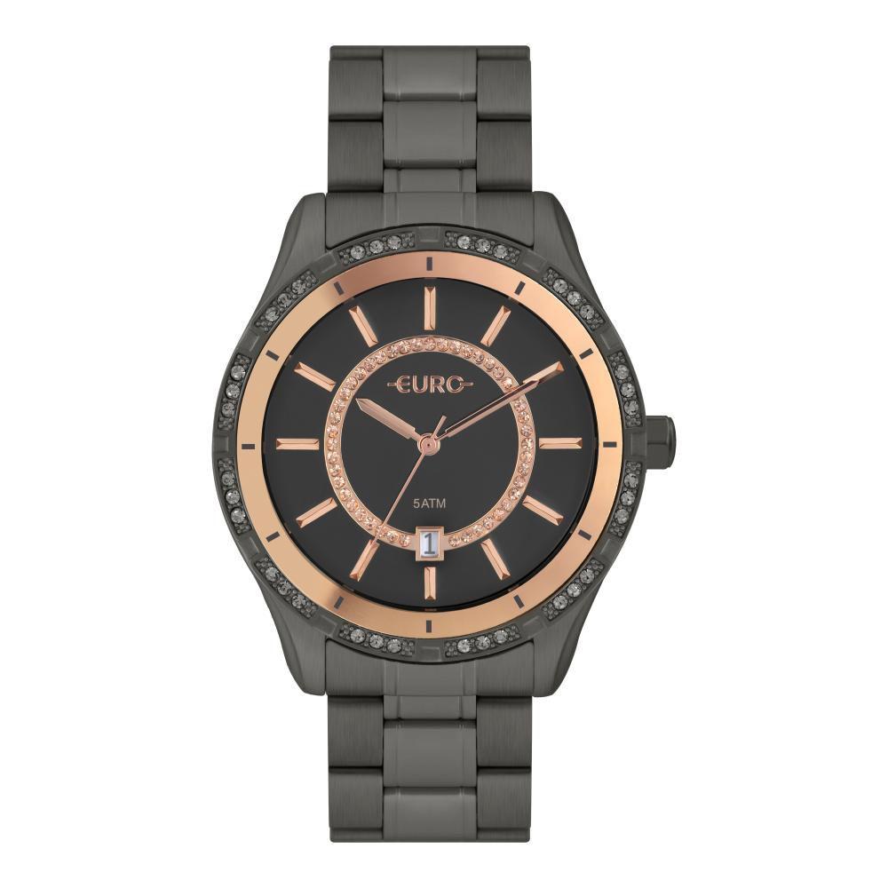 Relógio Feminino Euro EU21176HAC/4F 43mm Aço Grafite