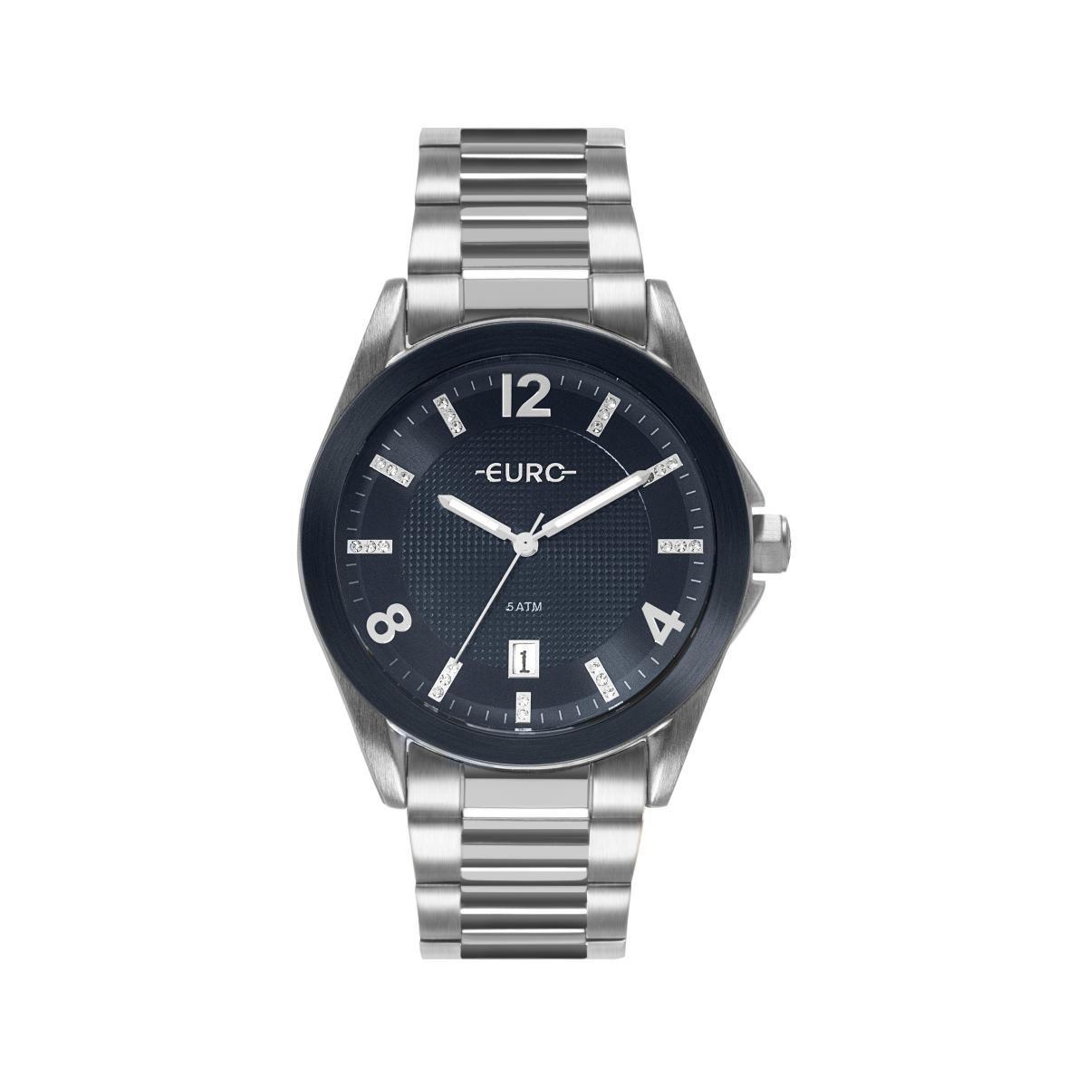 bbada1b4b6b Relógio Feminino Euro EU2315HN 3A 42mm Aço Prata - Vitrino Relógios